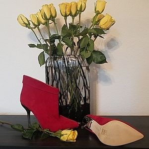 Aldo Ankle Boots Red 38.5